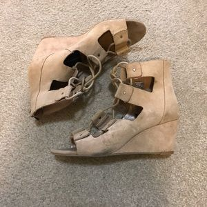 Dolce vita lace up wedges
